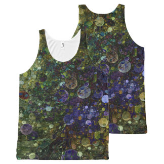 Tank Top with Fractal Bubble Design