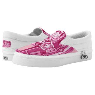 Tank Tracks Steam Shovel Tracks  Power Boost Pink Slip-On Sneakers