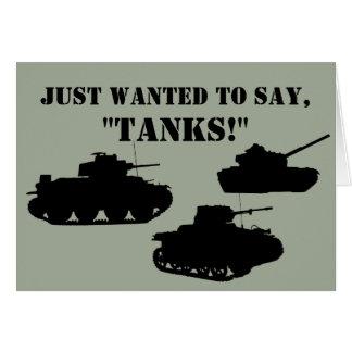Tank You Cards