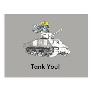 Tank you!  Tank Battle owl is very Thankful. Postcard