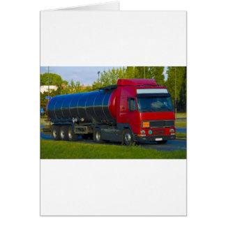 tanker truck card