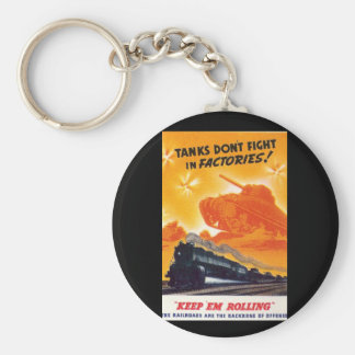 Tanks Don't Fight in Factories Keychain