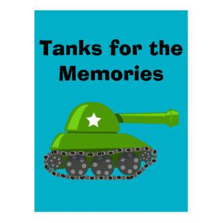 Tanks for the Memories Postcard