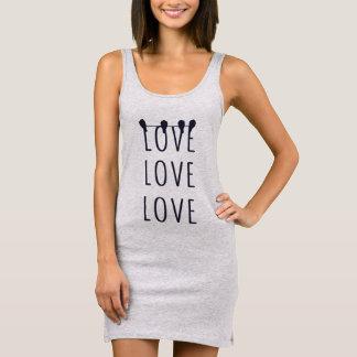 """Tanktop dress """"LOVE LOVE LOVE """""""
