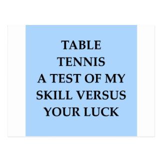 tanle tennis postcard