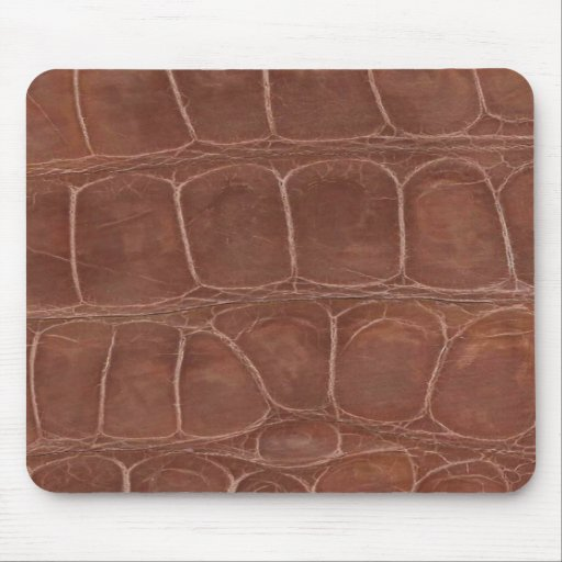 Tanned Alligator Hide Mouse Pads