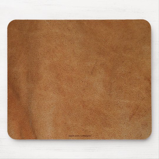 Tanned Leather-look Texture-effect Rustic Mousepad