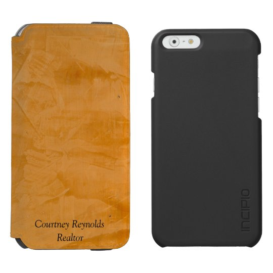 Tanned Leather Wallet Case Incipio Watson™ iPhone 6 Wallet Case
