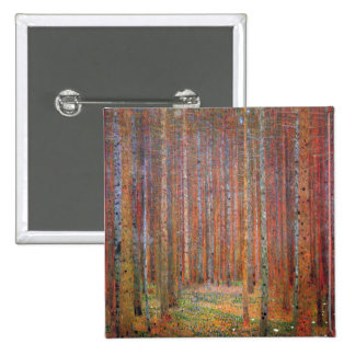 Tannenwald I by Gustav Klimt 2 Inch Square Button
