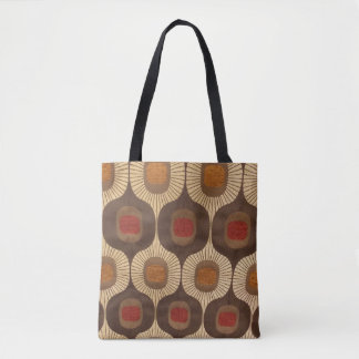Tans & Red Tote Bag
