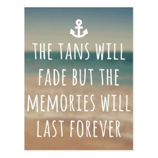 Tans Will Fade Travel Quote Postcard