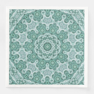 Tantalizing in teal paper napkins