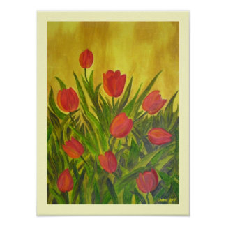 Tantalizing Tulips Poster