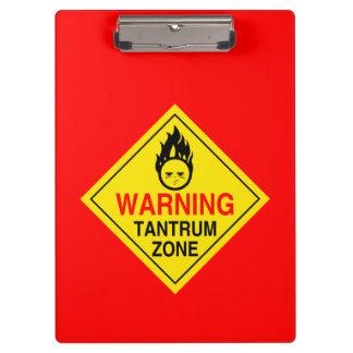 Tantrum Zone Clipboard