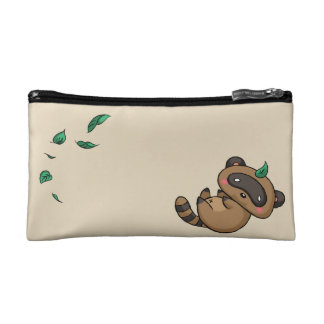 Tanuki and Leaves Makeup Bag