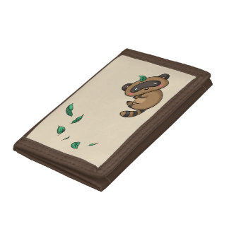 Tanuki and Leaves Tri-fold Wallets