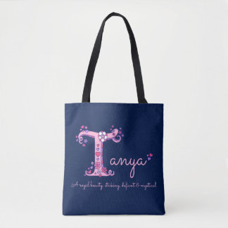 Tanya name and meaning monogram bag