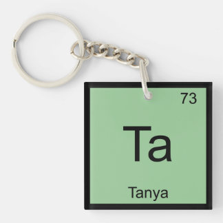 Tanya Name Chemistry Element Periodic Table Single-Sided Square Acrylic Keychain