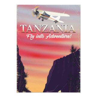 Tanzania African flight poster