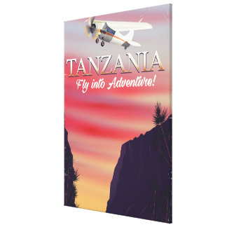 Tanzania African flight poster Canvas Print