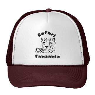 Tanzania Cheetah Safari Cap Trucker Hat
