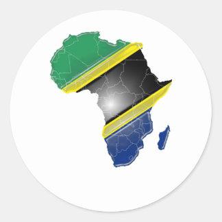 Tanzania Classic Round Sticker