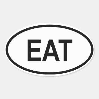 "Tanzania ""EAT"" Oval Stickers"