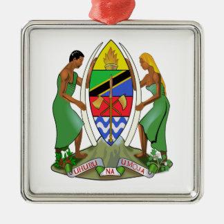 Tanzania Flag Metal Ornament