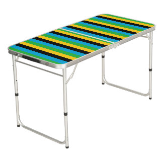 Tanzania flag stripes color lines pattern beer pong table