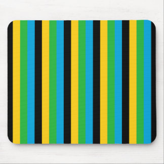 Tanzania flag stripes color lines pattern mouse pad
