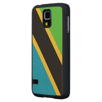 Tanzania Flag Maple Galaxy S5 Slim Case