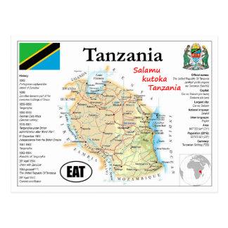Tanzania map Postcard