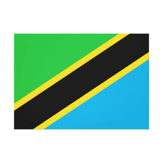 Tanzania National World Flag Canvas Print