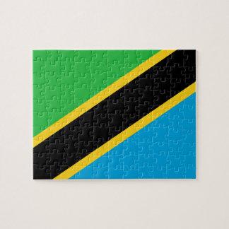 Tanzania National World Flag Jigsaw Puzzle
