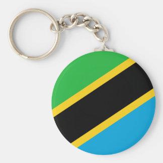 Tanzania National World Flag Keychain