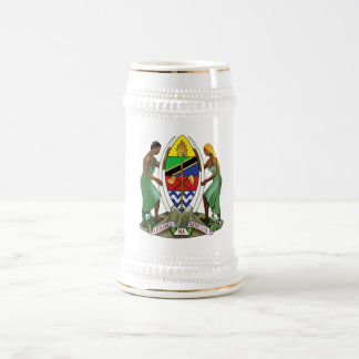 Tanzania Official Coat Of Arms Heraldry Symbol 18 Oz Beer Stein