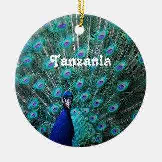 Tanzania Peacock Ceramic Ornament