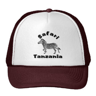 Tanzania Running Zebra  Safari Cap Trucker Hat