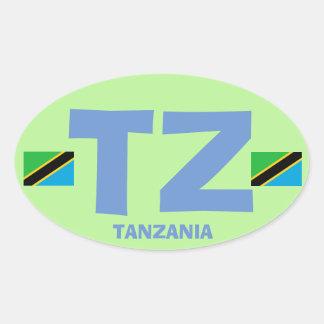 Tanzania TZ Euro-style Oval Sticker