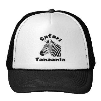 Tanzania Zebra Portrait Safari Cap Trucker Hat