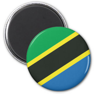 Tanzanian flag 2 inch round magnet