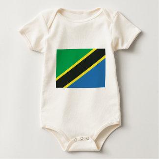 Tanzanian flag baby bodysuit