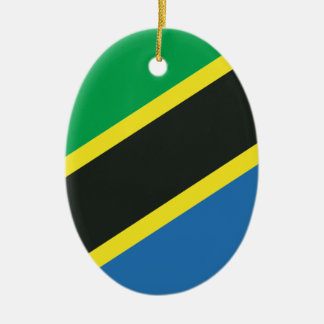 Tanzanian flag ceramic ornament