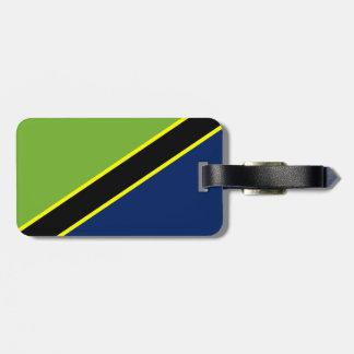 Tanzanian flag luggage tag
