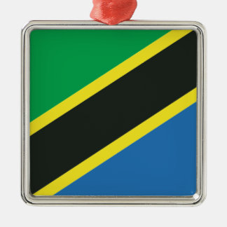 Tanzanian flag metal ornament