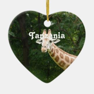 Tanzanian Giraffe Ceramic Ornament