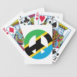 Tanzanian Peace Symbol Bicycle Playing Cards