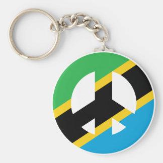 Tanzanian Peace Symbol Keychain