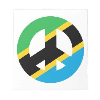 Tanzanian Peace Symbol Notepad