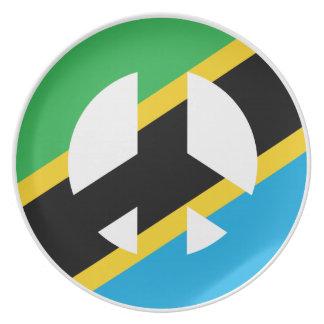 Tanzanian Peace Symbol Plate